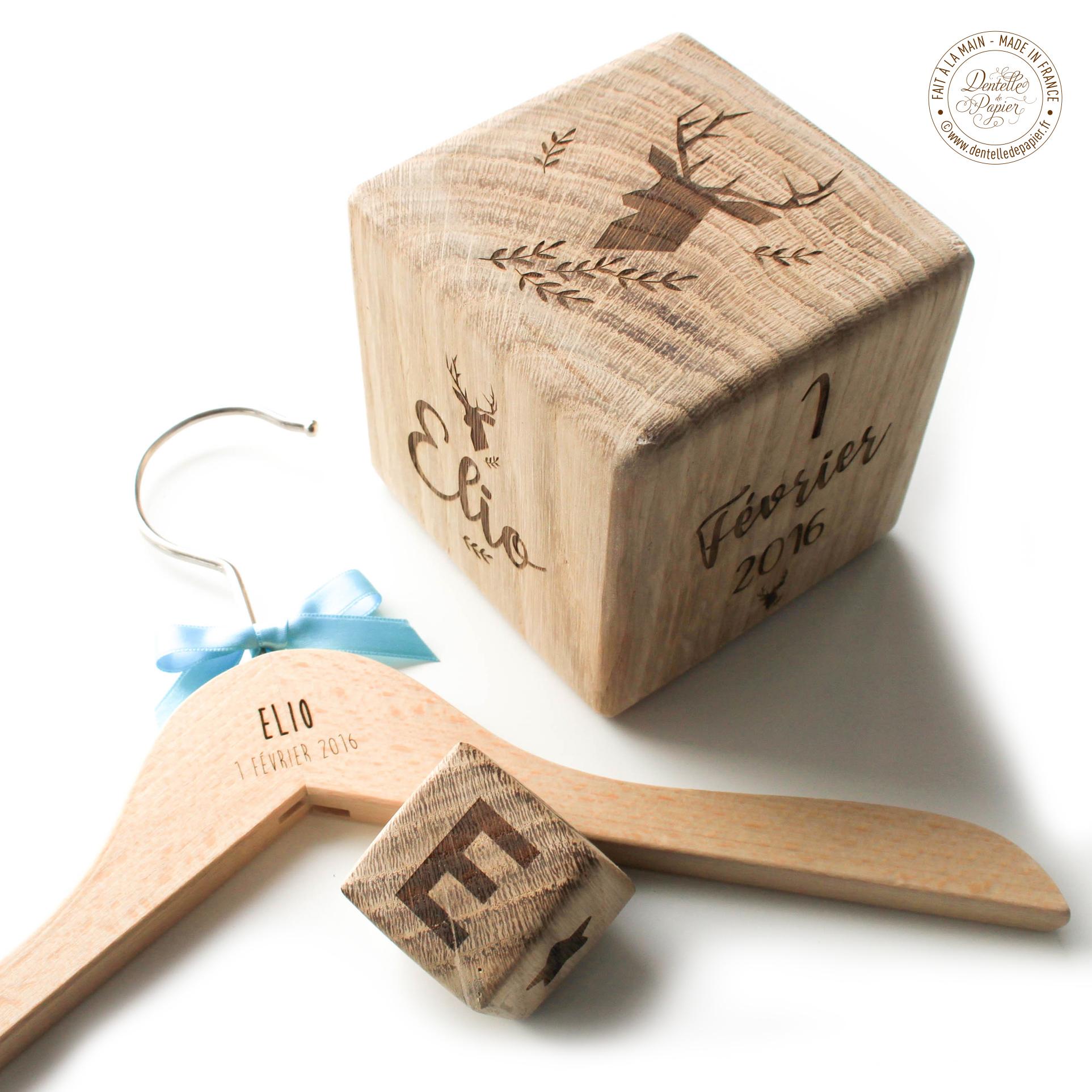 cube bois naissance gm dentelle de papier. Black Bedroom Furniture Sets. Home Design Ideas