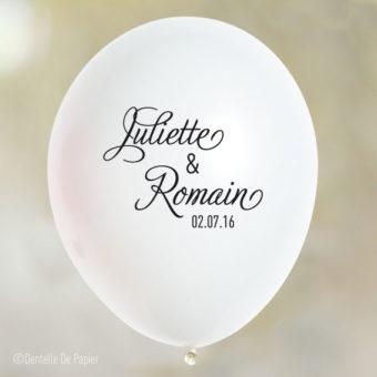 Ballon-personnalise-dentelle-chic