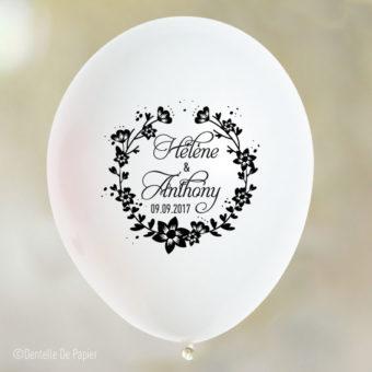 Ballon-personnalise-fleur