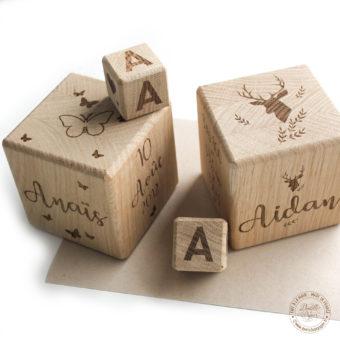 Les cubes en bois